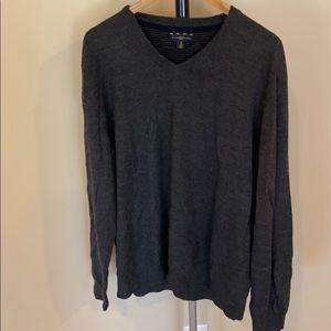 Club Room Black V-Neck Sweater - Size XL